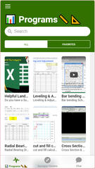 Surveyor Spreadsheets App