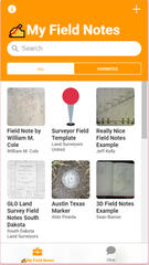 Surveyor Field Notes App