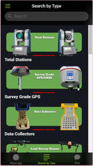 Land Surveying Equipment Hunter App
